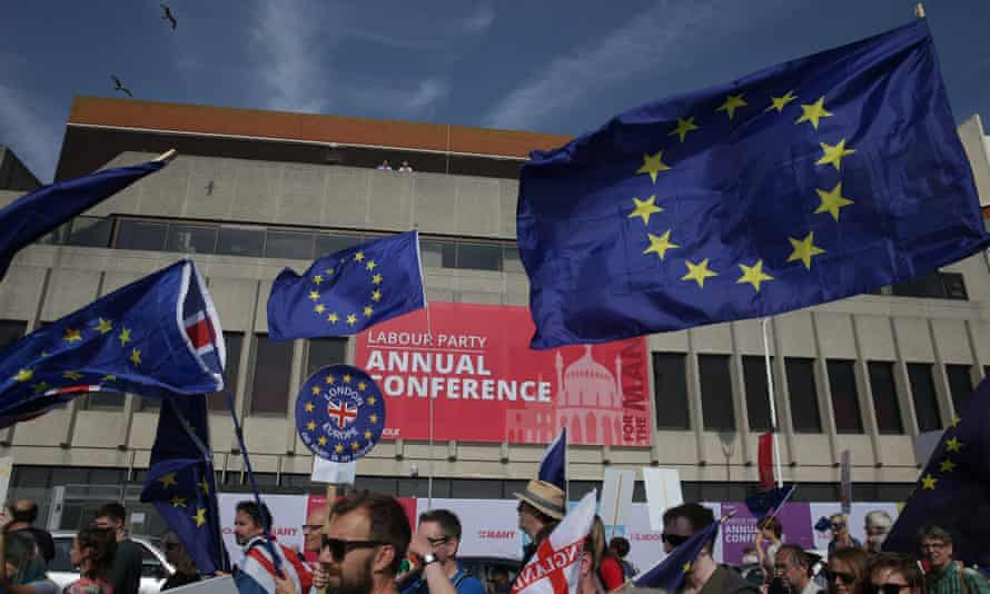 Pro-EU protesters at Labour conference