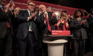 Jeremy Corbyn launches Labour's election cmpaign supported by members of the shadow cabinet.