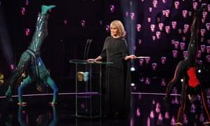 Creaky ... Joanna Lumley hosts the Baftas.