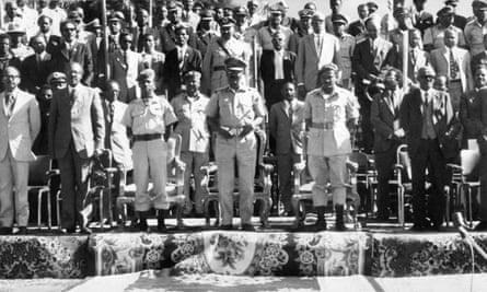 Addis Ababa, December 1974: Ethiopia's Derg leaders, who deposed emperor Haile Selassie in September 1974.