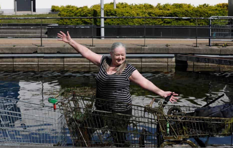 Joy Miller says magnet fishing helps with her anxiety and depression.