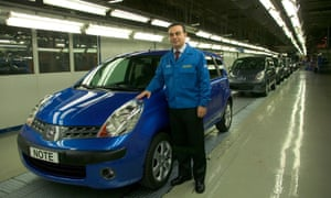Ghosn during his annual visit to the Nissan factory in Sunderland eight months before his arrest.
