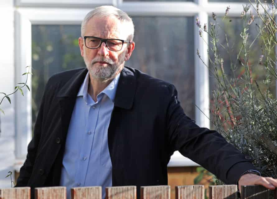 Jeremy Corbyn leaves his home in Islington on Saturday.