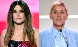 Sandra Bullock and Ellen DeGeneres. Lawyers are demanding an injunction and compensatory damages.