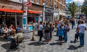 Cafes open for business in Balham, south London