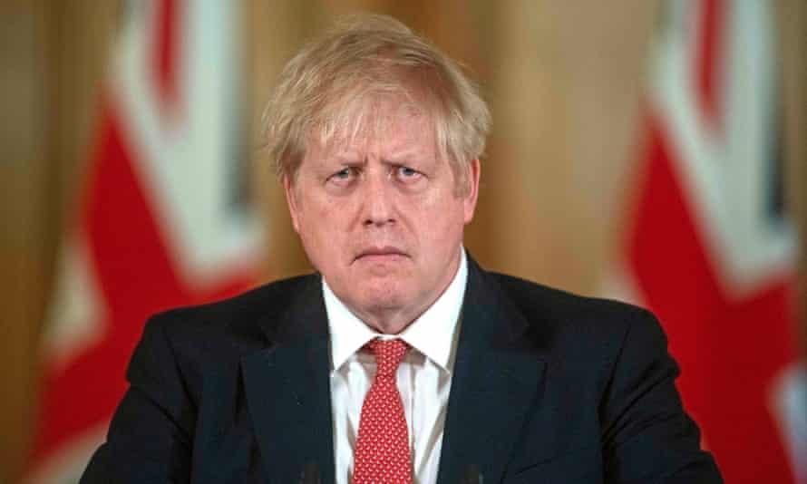 Boris Johnson at a press conference