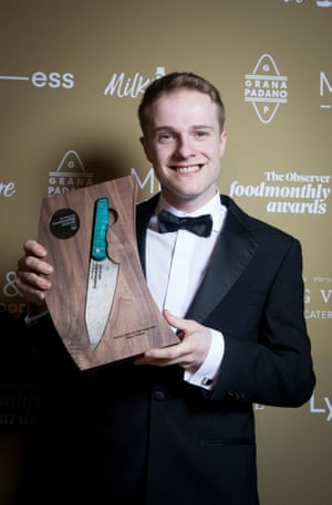 Young Chef of the Year winner Danny Wallace of Kala in Manchester.