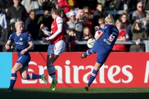 Sophie Ingle of Chelsea scores the third.