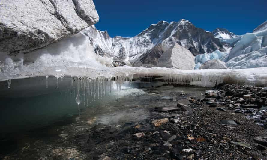 The Khumbu glacier