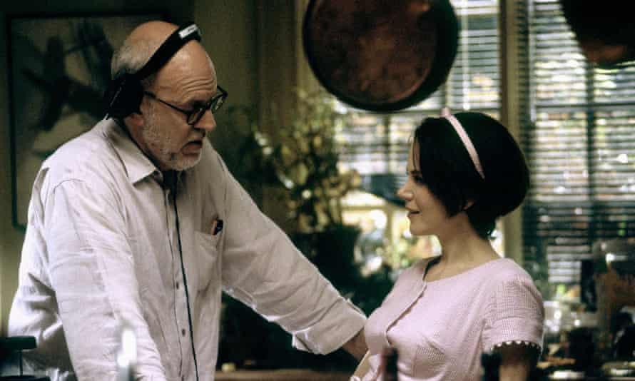 Frank Oz with Nicole Kidman on the set of The Stepford Wives in 2004.