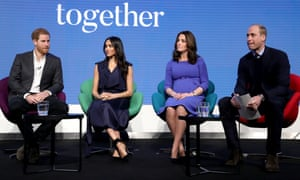 Prince Harry, Meghan Markle and the Duke and Duchess of Cambridge in 2018.