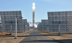 Solar Reserve's 110MW Crescent Dune plant in Nevada, US, will deliver more than 500,000 MW-hours of electricity per year, and requires zero natural gas.