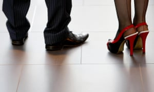 Some women have faced demands at work to wear high heels