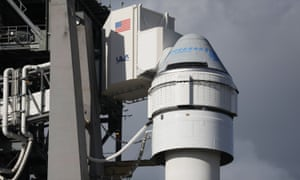 The Starliner spacecraft on top of the United Launch Alliance Atlas V rocket.