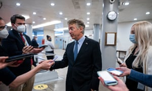 Rand Paul speaks to reporters on Tuesday.