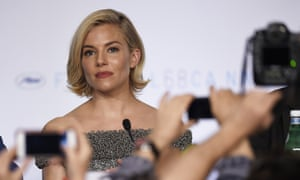 Sienna Miller attends a press conference before the opening of the 68th Cannes film festival