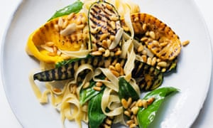 Power dressing: courgettes and tagliatelle.