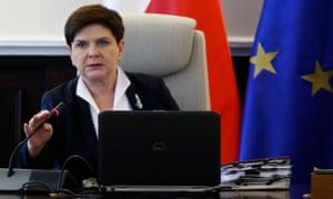 The Polish prime minister, Beata Szydło
