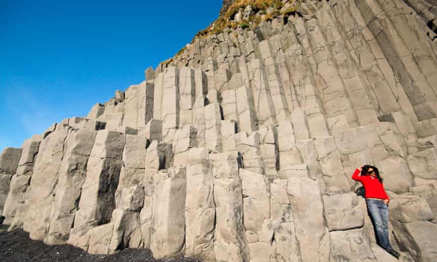 Columns made from volcanic rock near the village of Vik in Iceland.
