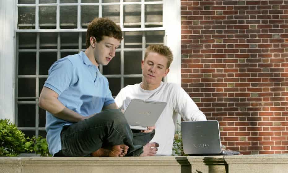 Facebook Creators Mark Zuckerberg and Chris Hughes