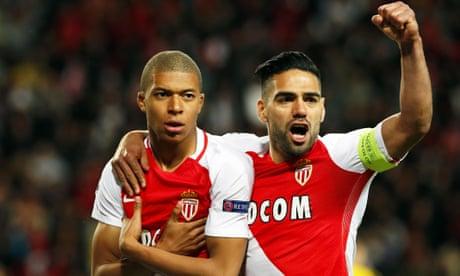 Mbappé and Falcao blaze Monaco trail past Borussia Dortmund into semis