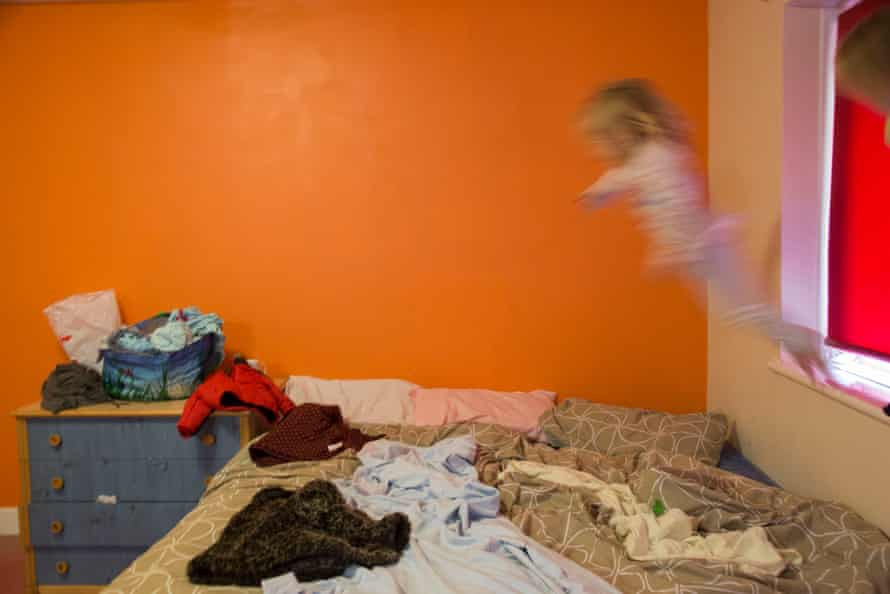 Shelley's daughter, Refuge F from A Room of Their Own by Susan Meiselas with women in refuge