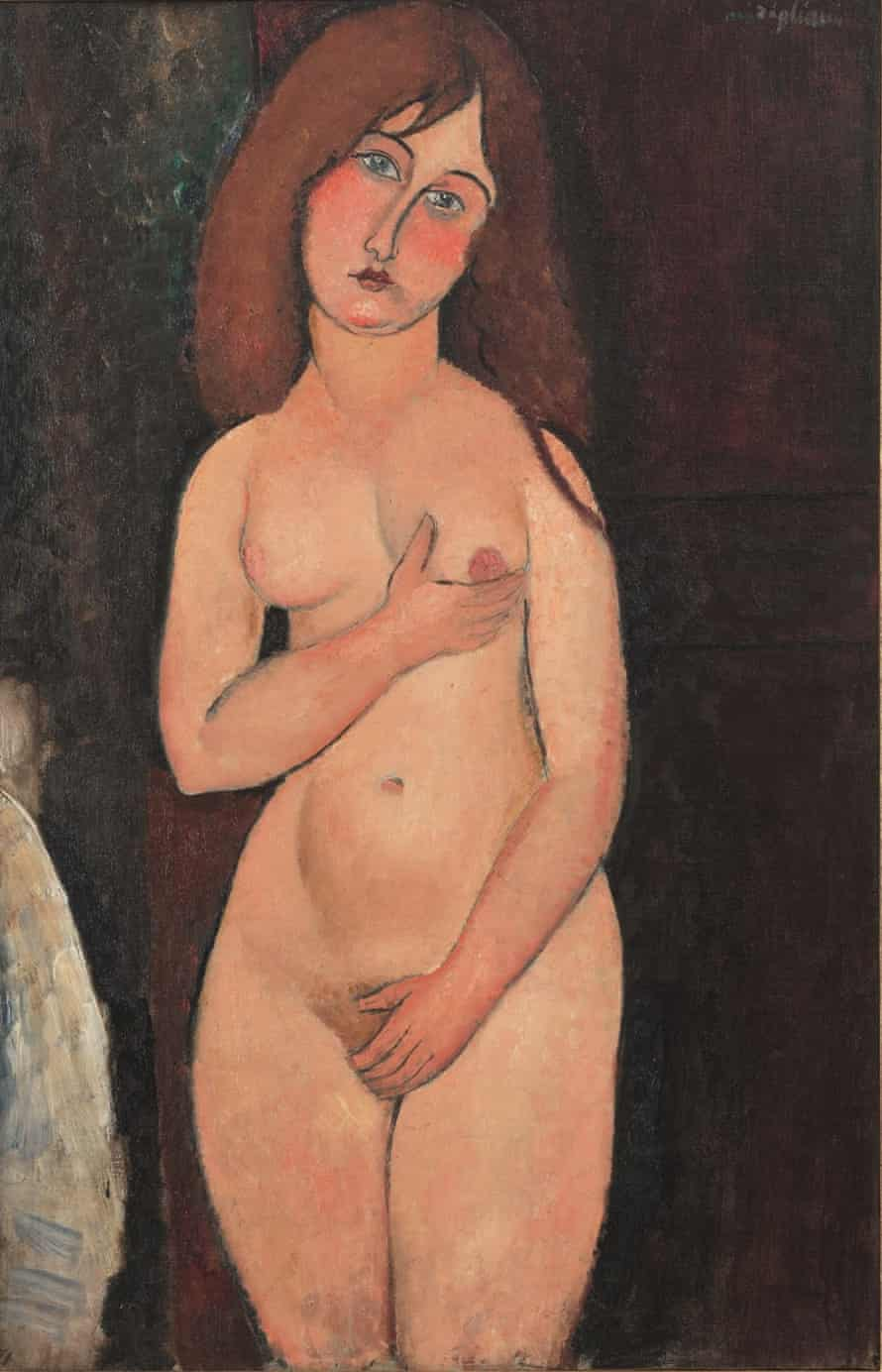 Modigliani Nude (1917) … the police removed the nudes from the gallery when they were first exhibited after they became a focus for shocked outrage.