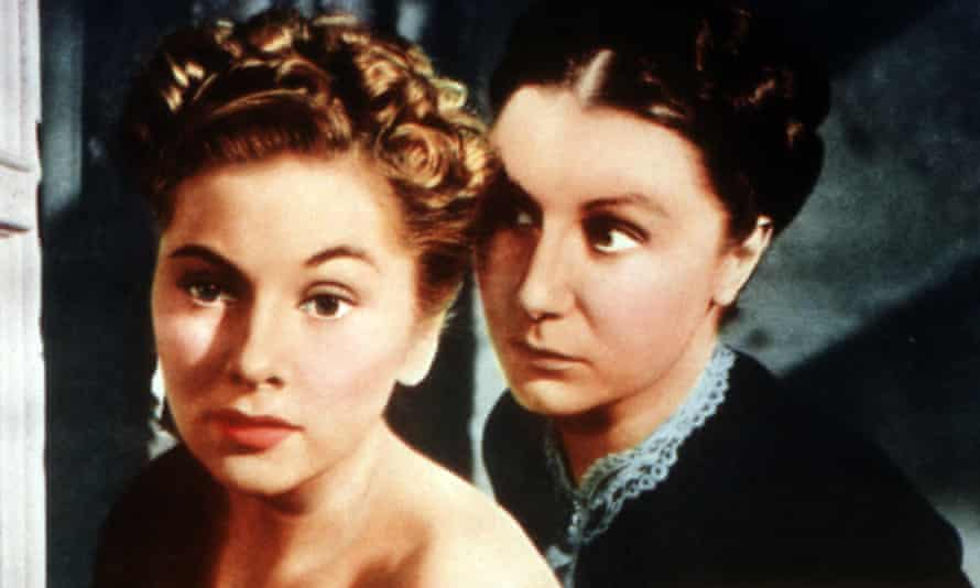 Someone should be watching their back … Joan Fontaine (left) and Judith Anderson in Alfred Hitchcock's 1940 film of Rebecca.