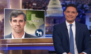 """Trevor Noah: O'Rourke has been in Vanity Fair and interviewed by Oprah, """"but whenever we asked him if he was running, he'd answer like a coy Southern belle: 'I might, but a lady never tells.'"""""""