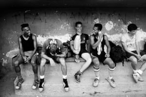 Players relax at the University of Havana before training