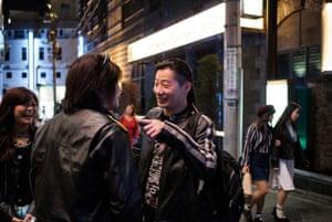 Freddy Lim en un encuentro y saludo en Tokio, 2018.