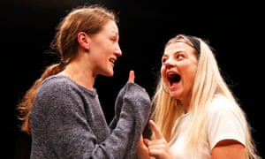 Sister act … Charlotte Bate and Charlotte O'Leary in Daughterhood.