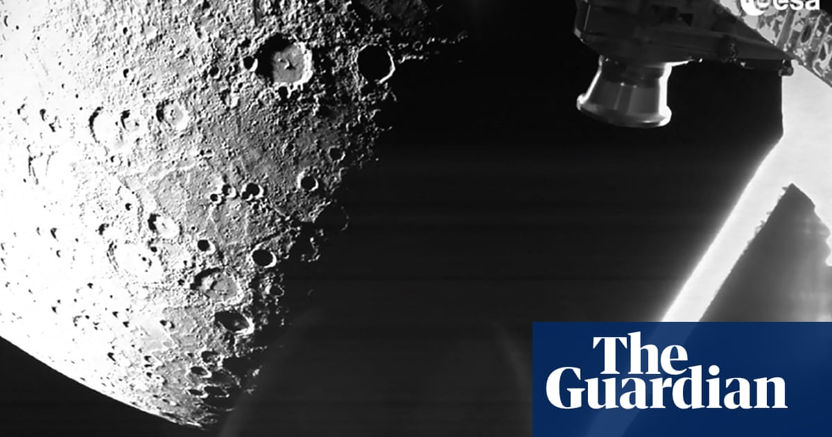 BepiColombo spacecraft sends its first images of Mercury during flyby