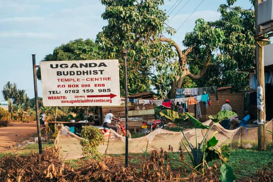 The temple is is about 25 miles south of Kampala.