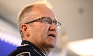AFP assistant commissioner Ian McCartney said the 20-year-old man from Greenacre had been monitored for the past 12 months since returning to Australia from Lebanon