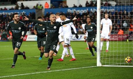 David Silva leads latest Manchester City masterclass in win at Swansea