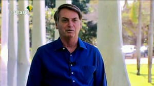 """7 July: Bolsonaro announces that he had tested positive for Covid-19 but said he was feeling """"perfectly well"""" and had only mild symptoms."""