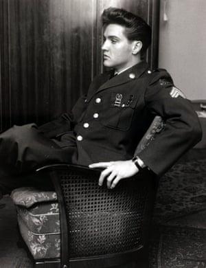 Presley in his US army uniform