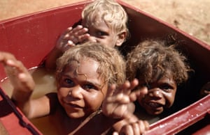 Gordon, Garrick Jnr and Tristan Robinson are kids from Warakurna, featured in Our Law.