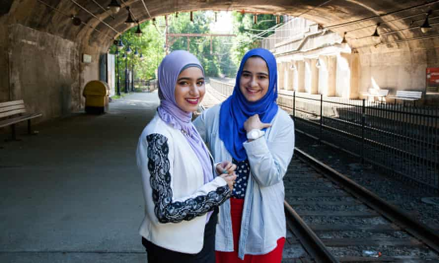 Sohyla and Dina Sayedahmed, pictured in the Photoville exhibit.