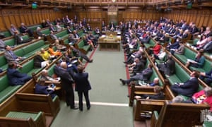 MPs listening to speakers during the business motion for a second round of indicative votes in the House of Commons