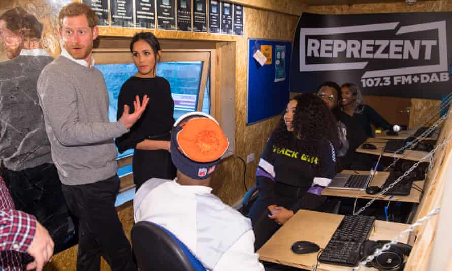 Prince Harry and Meghan Markle visit Reprezent.