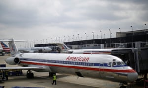 An American Airlines craft on the tarmac in Chicago, Illinois