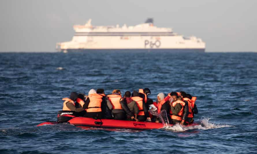 Migrants attempt to cross the English channel.
