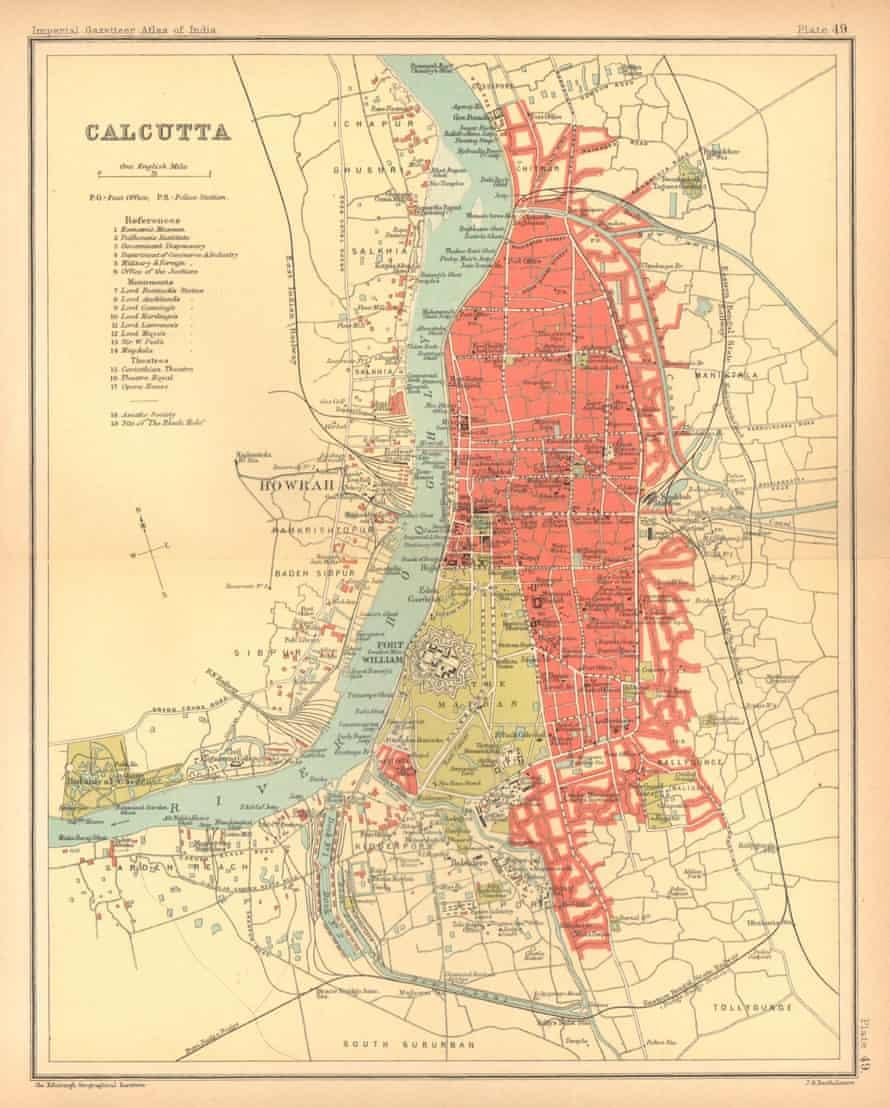 A map of Kolkata from 1909 .
