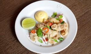 Chewy and underseasoned: crispy squid.