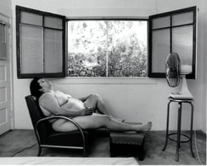 In Sandy's Room 1989 by Laura Aguilar as featured in Home at LACMA