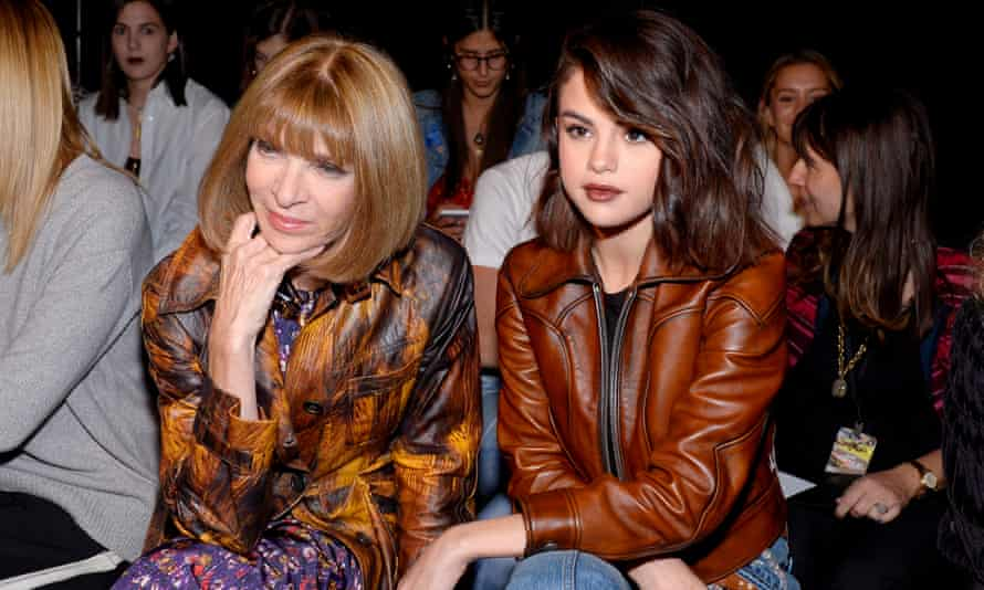 Anna Wintour and Selena Gomez attend a show during New York Fashion Week on 12 September 2017.