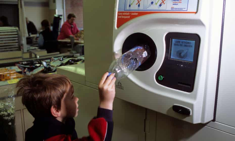 Recycling machine.