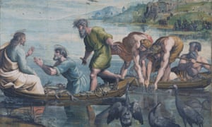 Detail from one of the Raphael Cartoons, The Miraculous Draught of Fishes